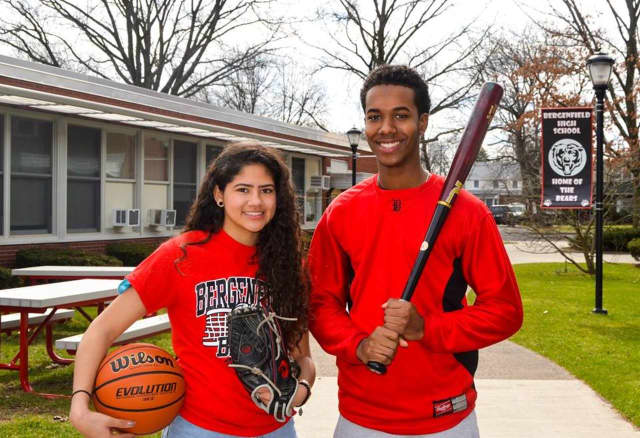 Isabel De Leon and Andres Reynoso were named Bergenfield High's athletes of the month.