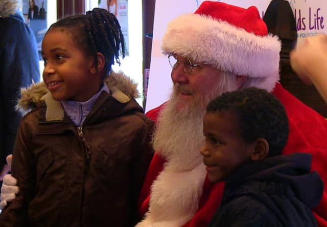 Santa Claus gave out toys and met children in Peekskill.