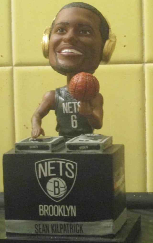 Sean Kilpatrick was honored with his very own bobblehead.