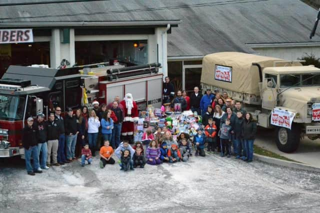 The Toys for Tots donation truck is outside the fire station in Allendale through Dec. 16 to collect new and unwrapped toys for children in need.