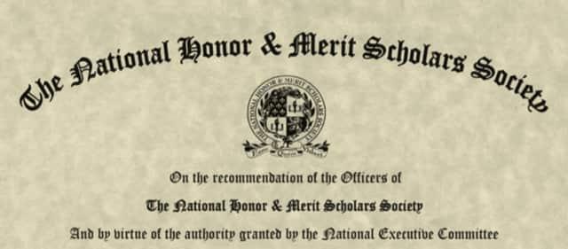 Thomas Scanlon was awarded a National Merit Scholarship