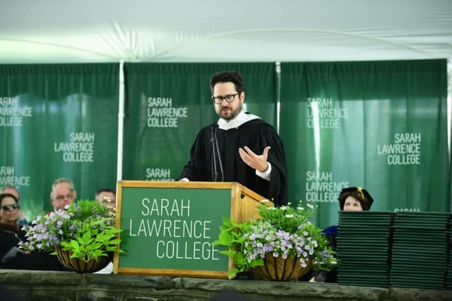 JJ Abrams addresses the graduates of Sarah Lawrence College.