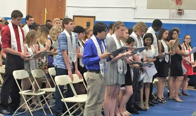 Twelve Hendrick Hudson students were inducted into the National Technical Honor Society.