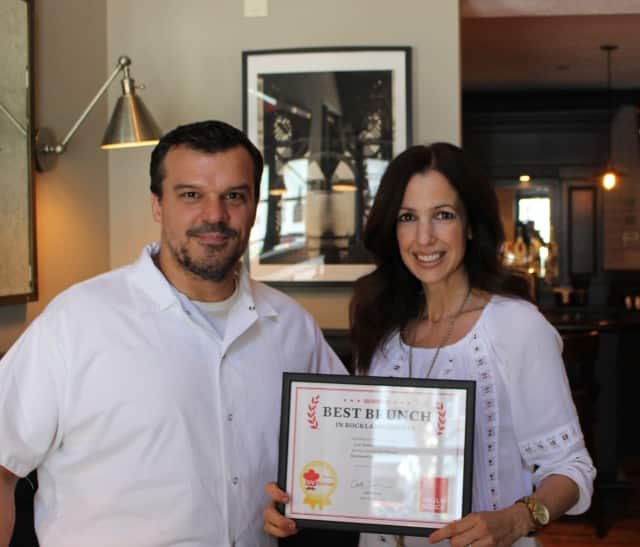 Chef Eric Woods and General Manager Paula Clemente Woods, who co-own 14 & Hudson in Piermont.