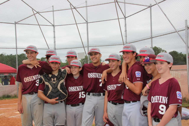 The Ossining Little League baseball team