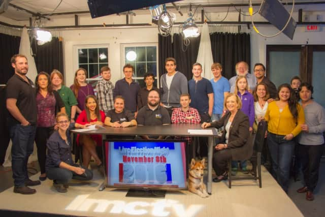 "The staff at LMC-TV. Thursday evening's ""Local Live"" broadcast is titled ""Hunger & The Holidays."""