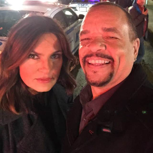 "Mariska Hargitay and Ice-T of ""Law & Order SVU."""