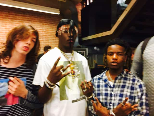 Henry Mosto with Lil' Yachty and Ian Connor.