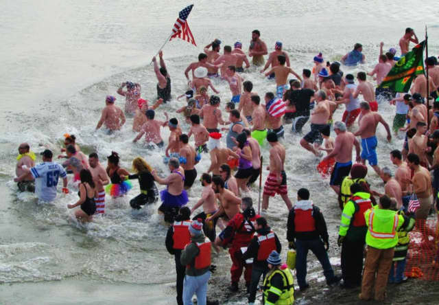 Throw on your bathing suit and jump in the freezing water as part of the annual Polar Plunge Sunday in Stony Point.