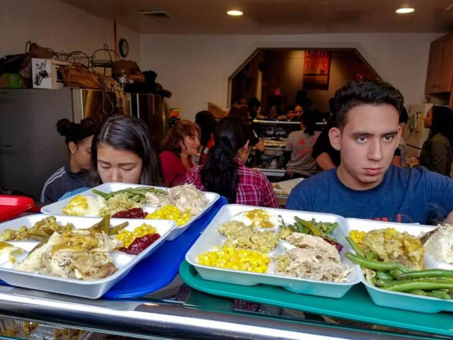 Bergenfield students served more than 350 meals to those in need last weekend in Hackensack.