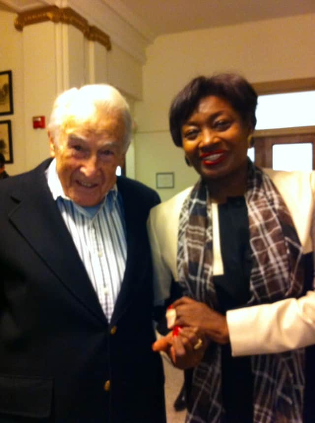 "John ""Jack"" Harrington and Senate Democratic Leader Andrea Stewart-Cousins at the ceremony."