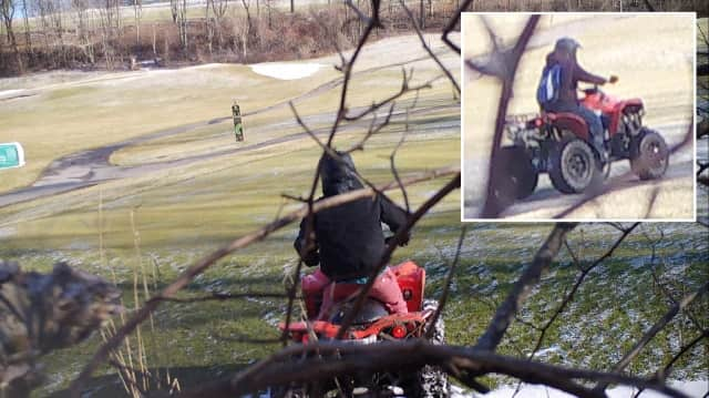 The Sheriff's Office is looking for two people who damaged the Putnam County Golf Course on ATVs.