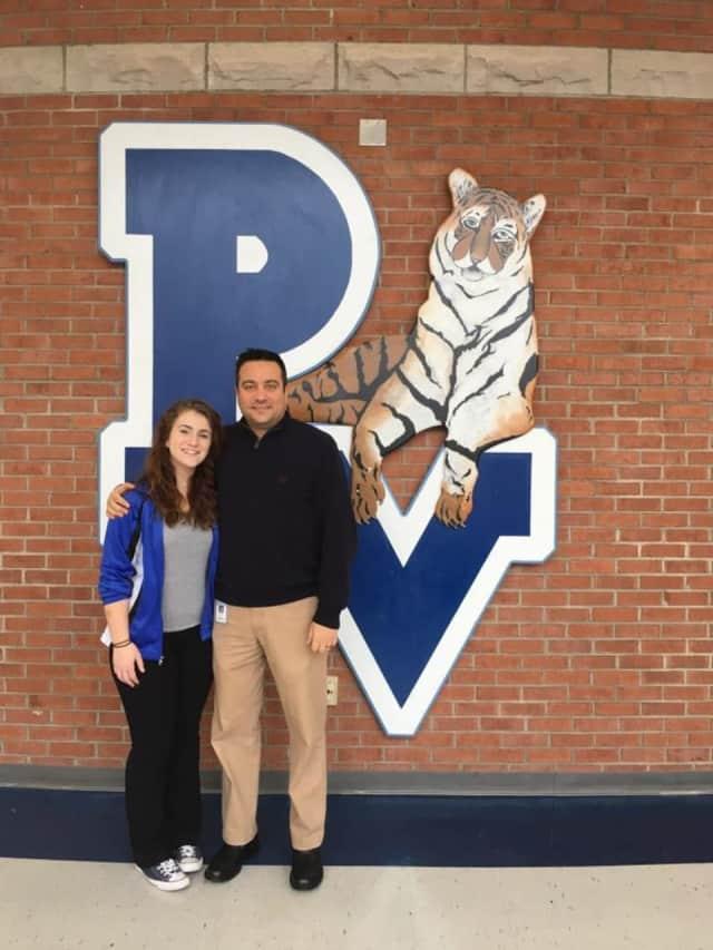 Putnam Valley High School's Gerard Micera and Tess Rhian.
