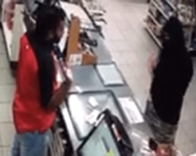 Surveillance shot from Franklin Turnpike 7-Eleven.
