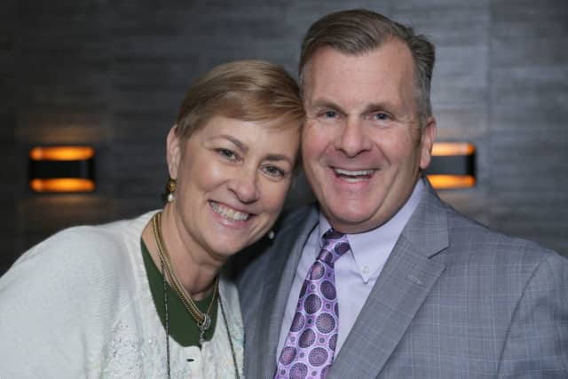 Joan Keating and real estate salesperson, Brian Sheerin of William Raveis Real Estate.