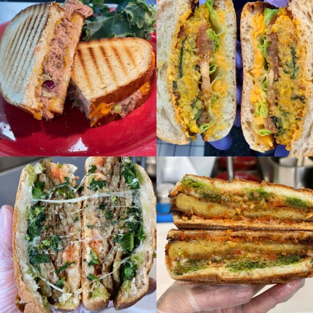A sampling of sandwiches from the Brooklyn Organic Kitchen.