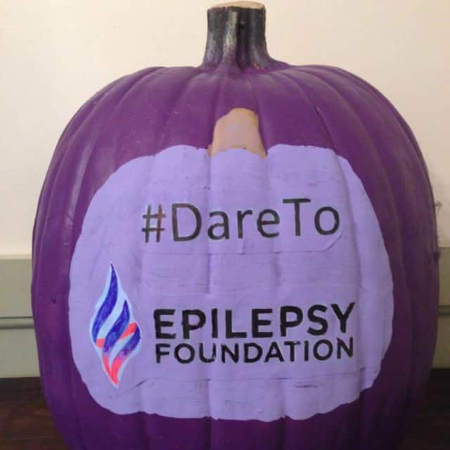 Clarkstown South High School's Assets Leadership Team in West Nyack, under advisor Susan Solar, participated in the Purple Pumpkin Project to support epilepsy.