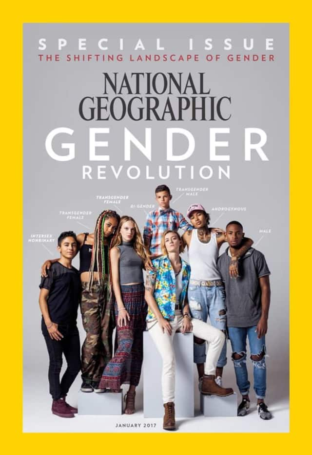A 12-year-old from Glen Rock, standing in the back, is among several youth being featured in National Geographic's special issue this month.