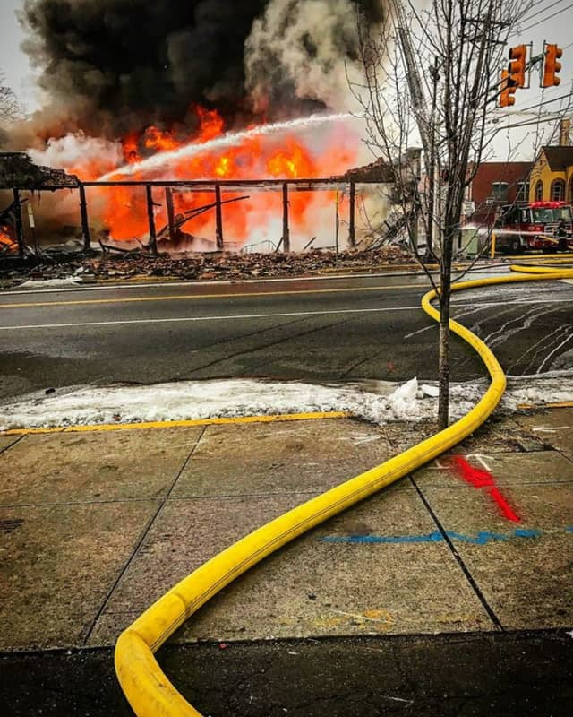 A fire destroyed a North Bergen furniture store in 2016.