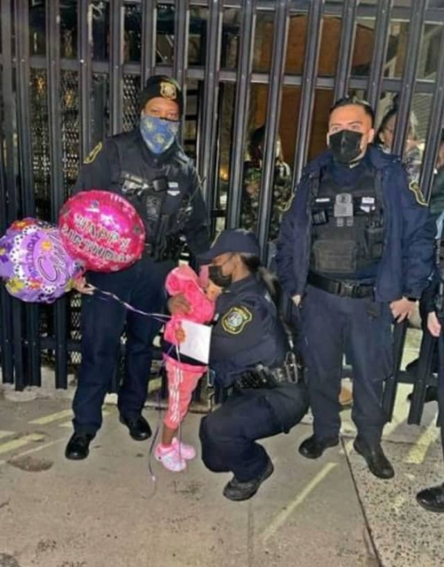Police in Newark celebrated the third birthday of a girl who was shot in January and are remaining vigilant in their search for the person responsible.
