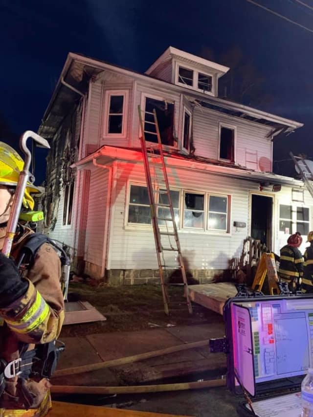 The children were trapped on the second floor of the West Washington Street blaze in Paulsboro, which broke out around 4:30 a.m., officials said.