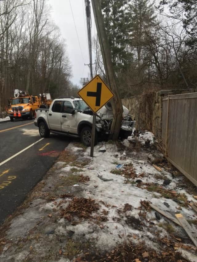 Three people were sent to the hospital after a two-car crash at 177 Newtown Turnpike in Weston on Monday.