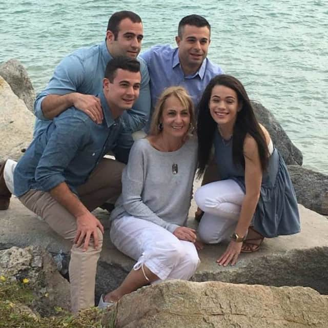 Val Purciello and her four children, of River Edge.