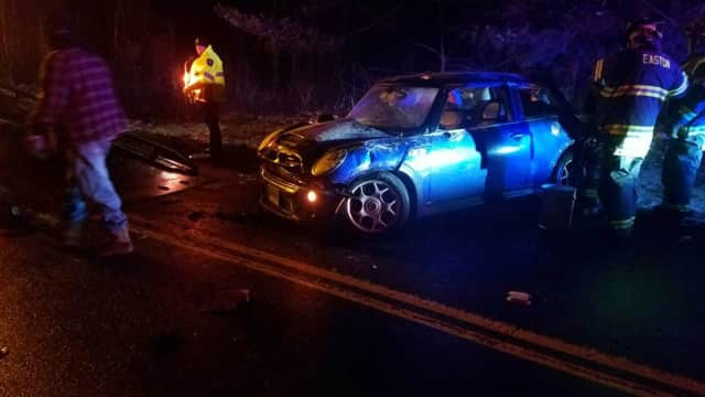 Easton EMS responded to a motor vehicle accident on Route 58.