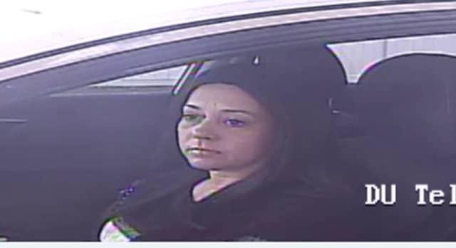 The female suspect in the $20K larceny.