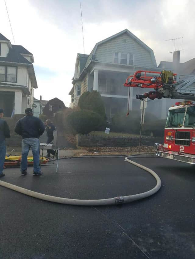 Mount Vernon firefighters were busy battling a basement blaze on Bedford Avenue.