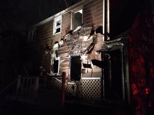 An early morning fire scorched the two-story home at 436 Sedgewick Ave. in Stratford.