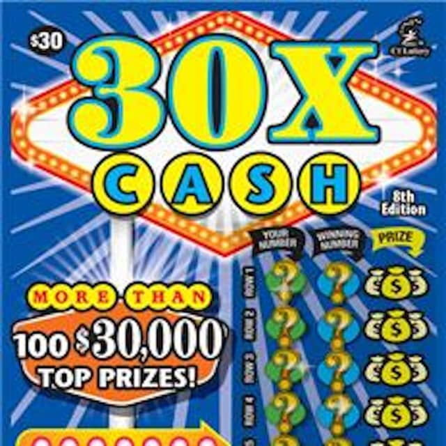 A New City man won $10,000 playing 30X Cash in Connecticut.
