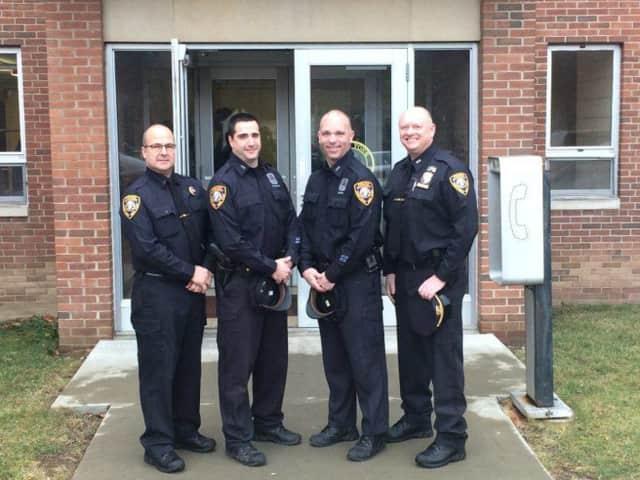 From left: Lt. John DeIulio, Officer Robert Pavletich, Officer Brian Mundy, and Yorktown Chief of Police Robert Noble.