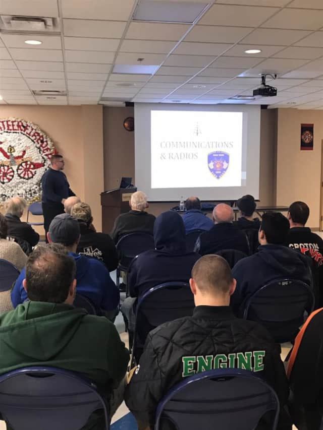 Croton-on-Hudson firefighters attended a radio and communications class recently to improve the department's radio communications.