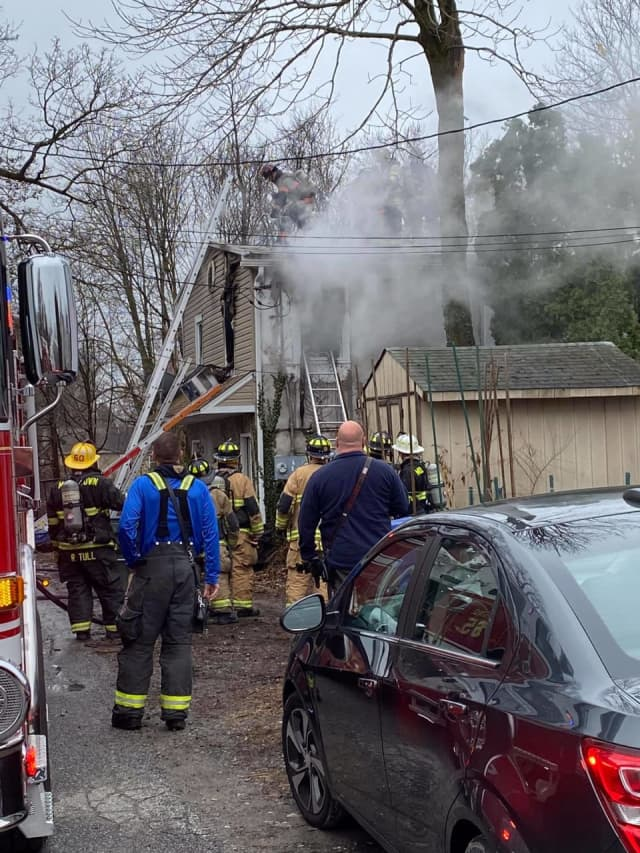 Five people are being treated for injuries sustained in a fire that broke out in a home in Nether Providence Thursday morning.