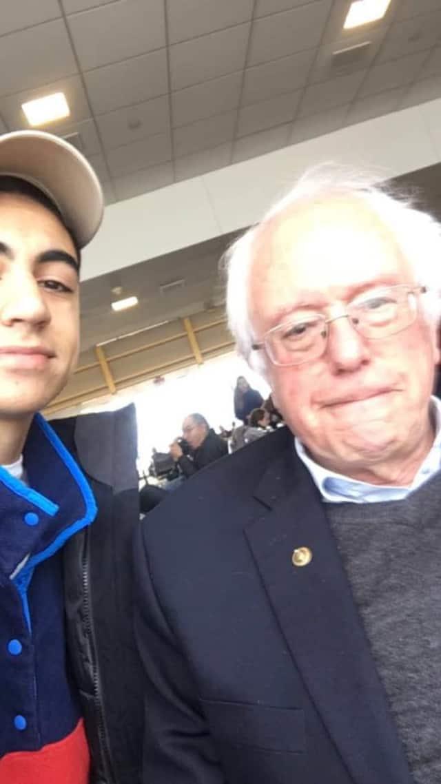 Conor Zeya, 16 — whose mom is an Upper Saddle River native — ran into U.S. Senator Bernie Sanders on his flight to mountain school.
