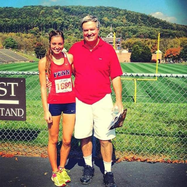 Former Allendale track and soccer star Madison Holleran and her father, Jim Holleran.