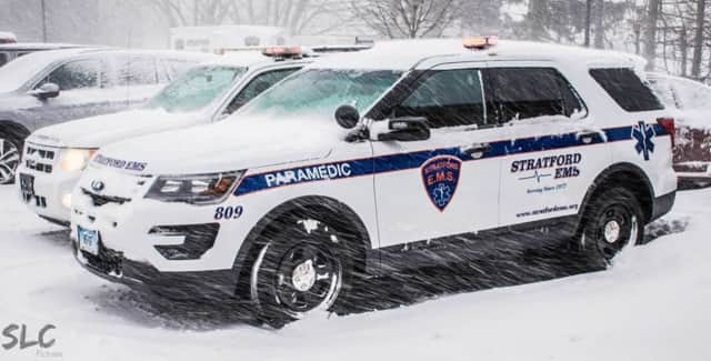 Stratford EMS went on a number of runs in the snowstorm on Thursday.