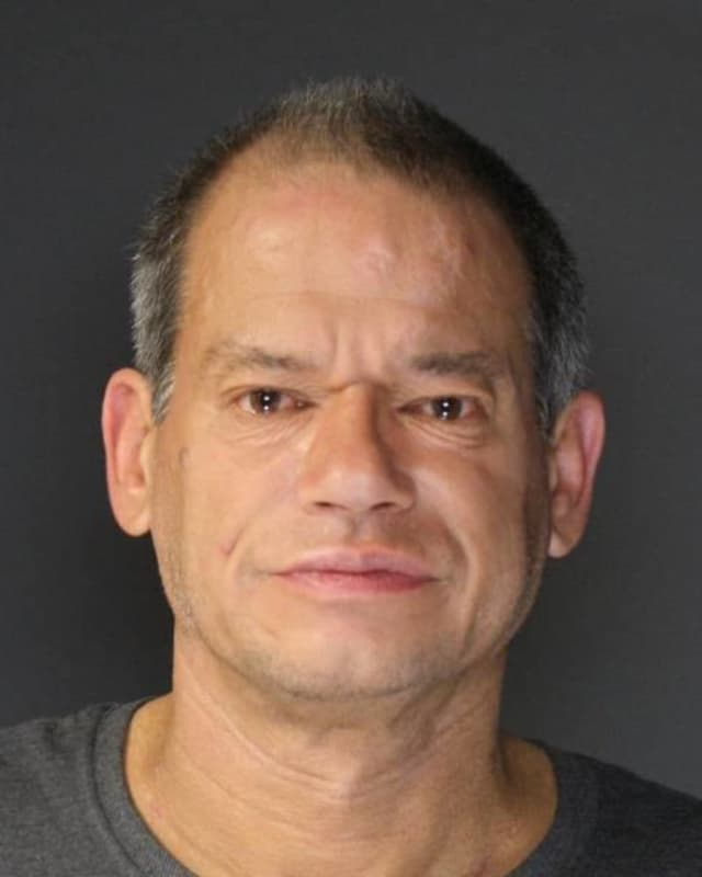 Robert Hicks of New City was arrested by Orangetown Police after causing a disturbance at Nyack Hospital.