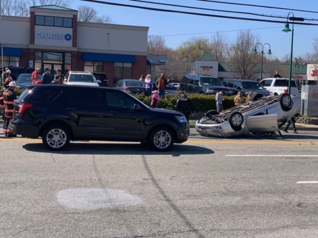 Livingston Street rollover in Northvale near the Rockland line.