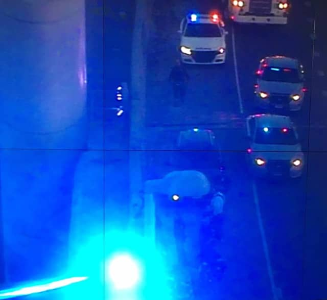 A Connecticut State Trooper stopped a man from jumping off the Q Bridge in New Haven late Friday afternoon.
