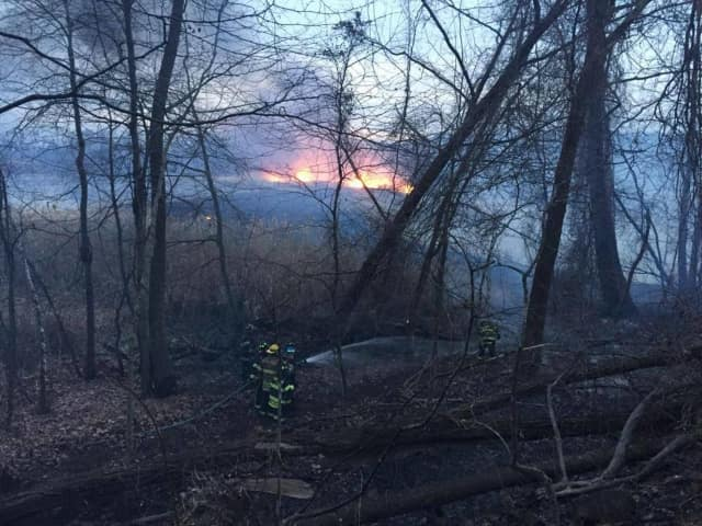 More than 100 firefighters battled seven fires Thursday afternoon and evening across Rockland County.
