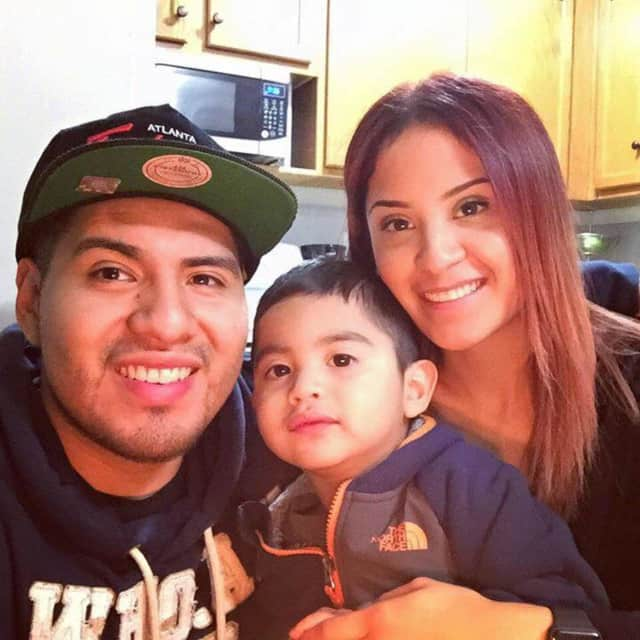 Ismael Mendoza with his son, Brannley, and wife, Lisette Rojas-Vidals of Leonia.