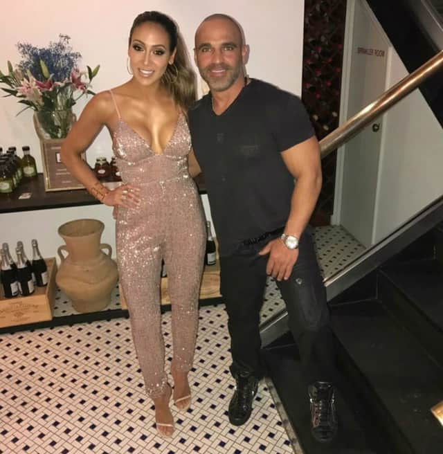 Melissa and Joe Gorga formerly of Franklin Lakes celebrate at Molos in Weehawken on Saturday.