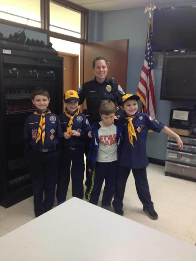 Newtown police recently provided Cub Scout Pack 570 with a tour of its facility.