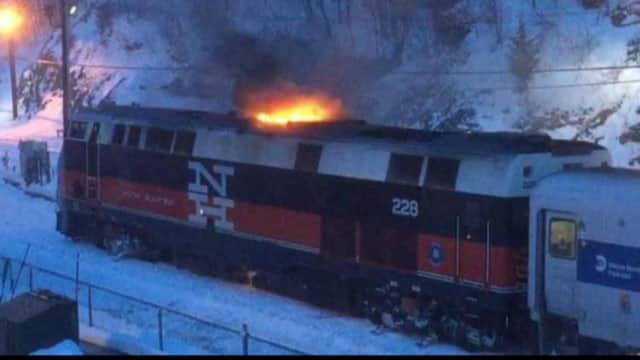 City of Poughkeepsie firefighters were able to contain a small fire on a Metro-North train to the engine compartment.