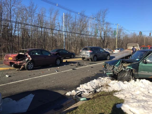 A woman high on drugs caused a multi-car crash on Thursday in Ramapo.