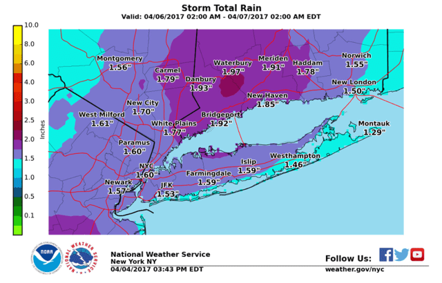 A look at projected rainfall amounts from the latest storm that will hit the area.