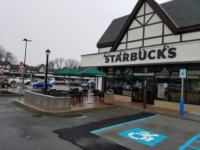 Starbucks is now open at Scarsdale's Golden Horseshoe Shopping Center.