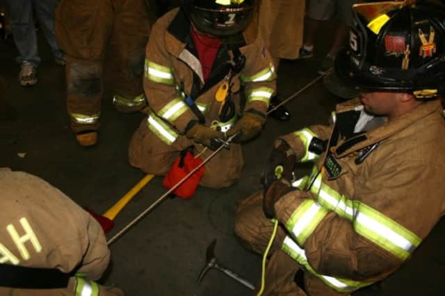 EMS personnel quickly stabilized the ankle and Rescue members packaged him in the basket.